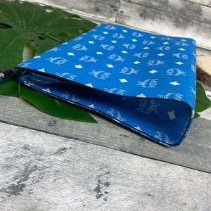 MCM Bags - MCM unisex clutch pouch bag. iPad case blue